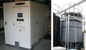 Water purifying system and pure water storage tank